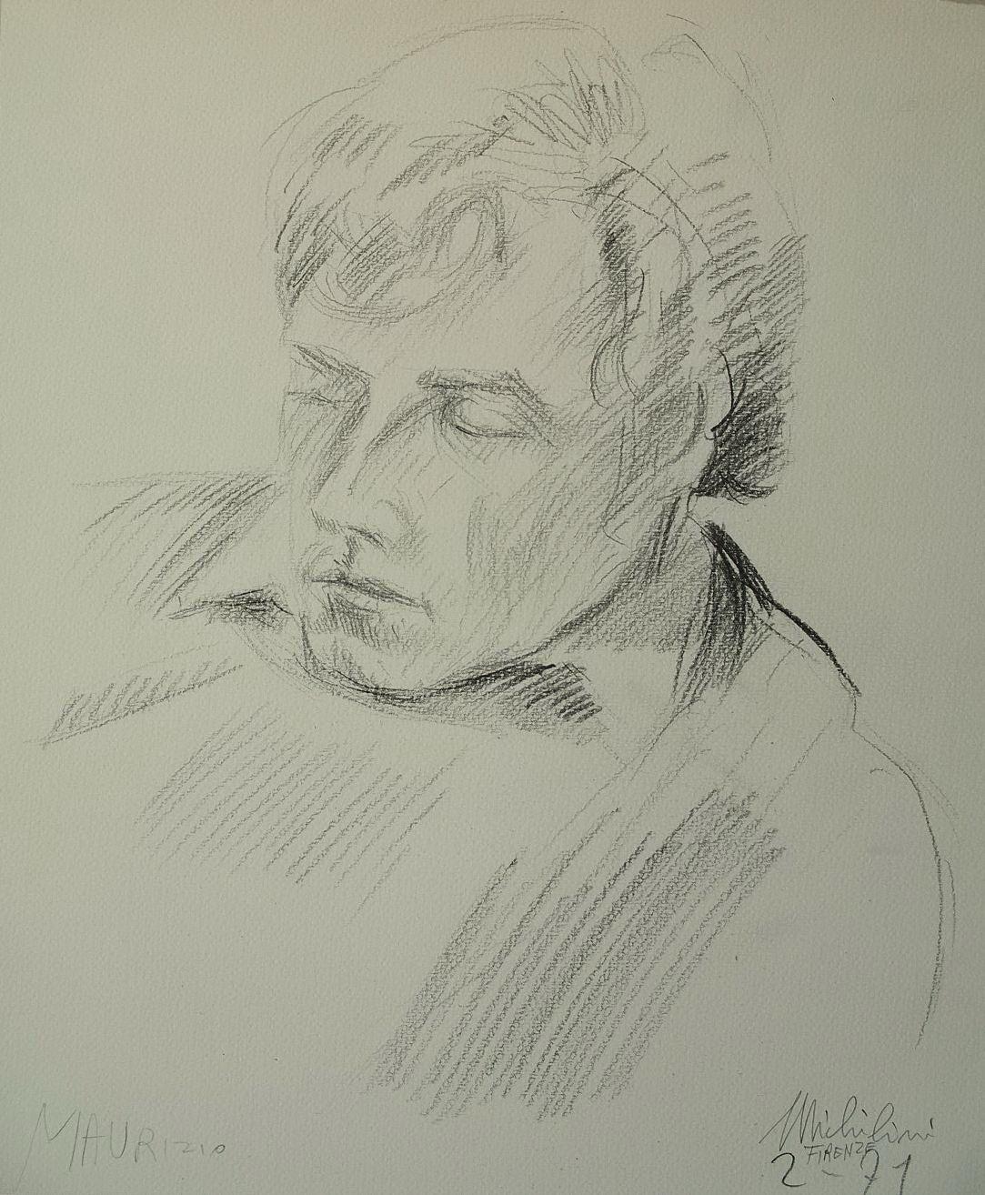 Sergio Michilini, MAURIZIO, 1971, cm.34x28
