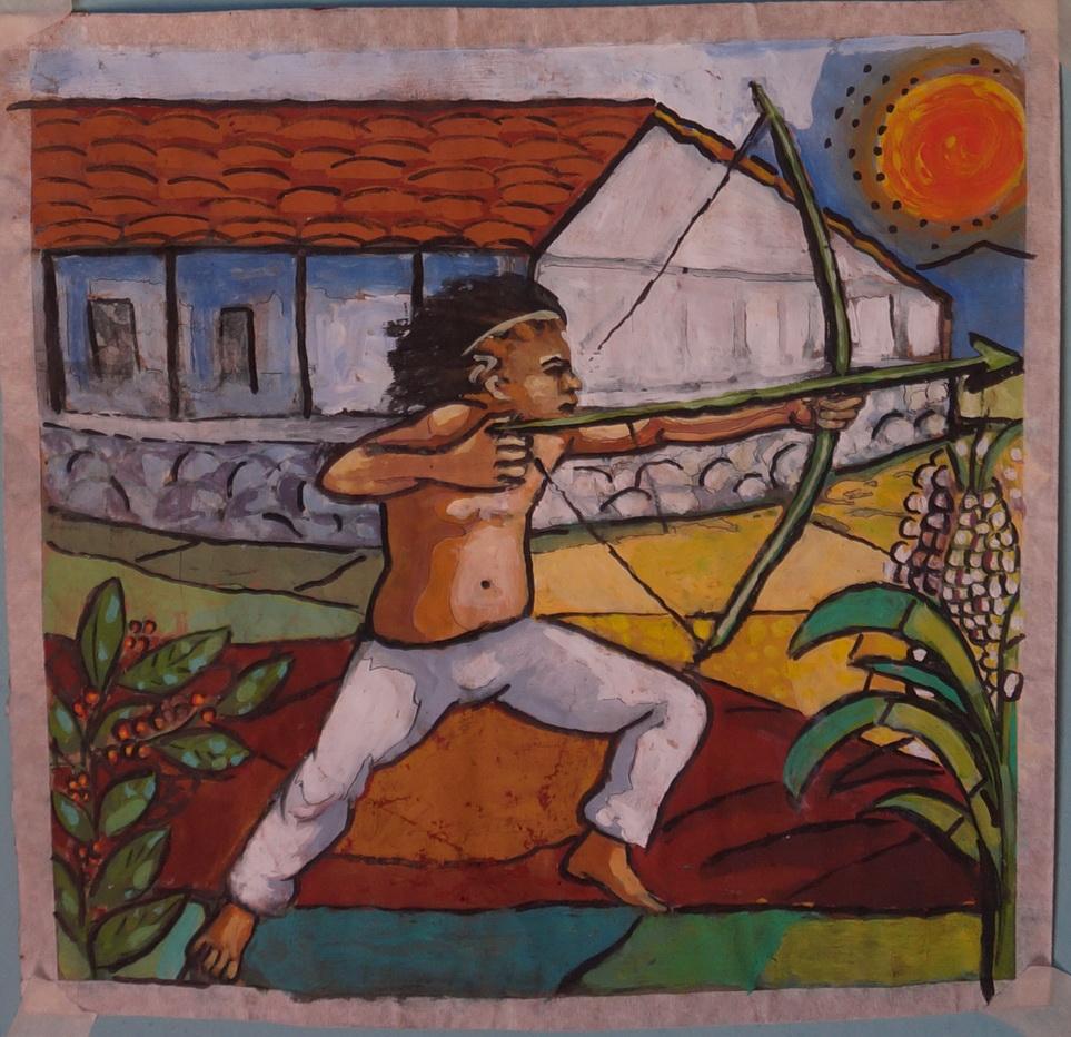 Boceto de Ricardo Gomez para el panel de Mosaico