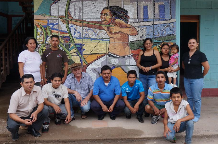 2 de Junio 2014- Con los maestros Ricardo Gómez y Sergio Michilini en el Taller de Niquinohomo