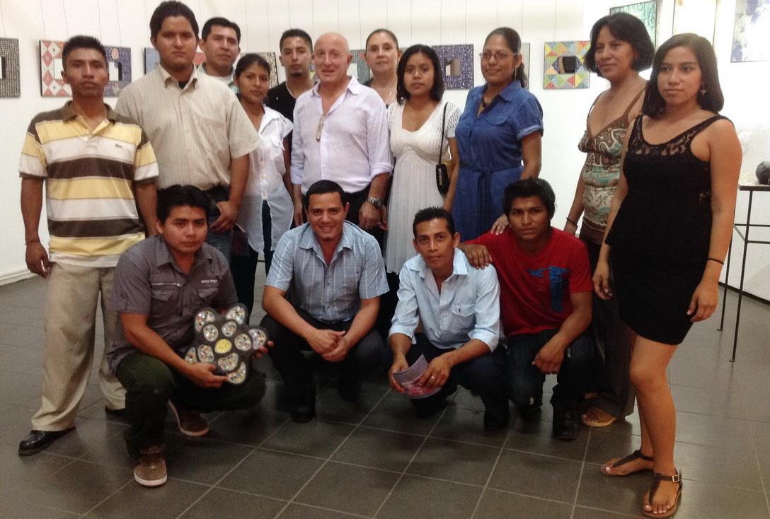 5 de Abril 2014- Con el maestro Giancarlo Splendiani en el Palacio de Cultura en Managua