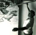 1987- El Maestro AURELIO C. trabajando en el CEMOAR, Managua, Nicaragua