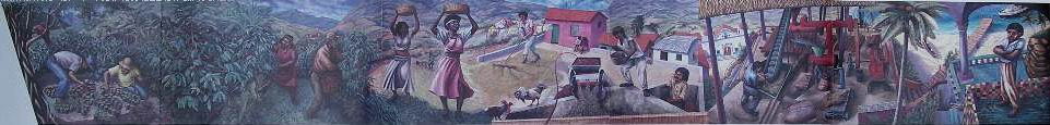 1988-1b    LA STORIA DEL CAFFE'- murale mobile. Centro Commerciale Laghi, Gallarate