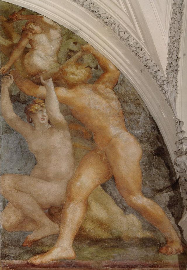 Rosso Fiorentino, CACCIATA DAL PARADISO TERRRESTRE, Cappella Cesi