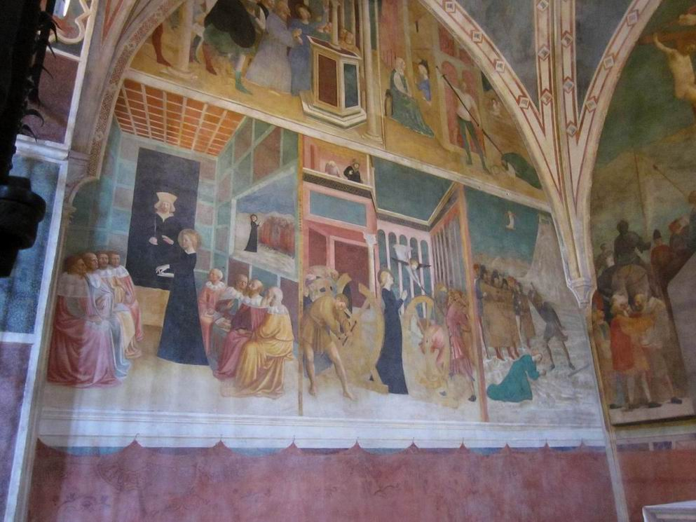 Masolino da Panicale CAPILLA DE SANTA CATALINA DE ALEJANDRIA en la Basilica de San Clemente, Roma
