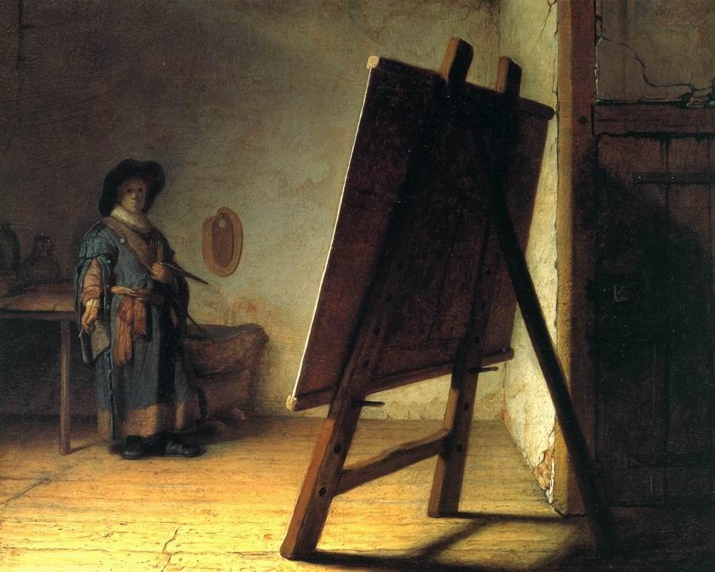 1628-Rembrandt-Le-Peintre-dans-son-atelier
