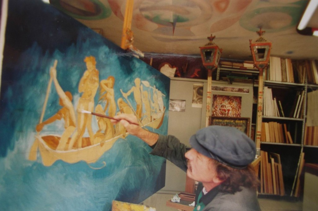 1998, EN EL TALLER EN ITALIA