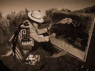 218283Gerardo-Murillo-el-Dr.-Atl-pintando-en-el-Popocatépetl.-ESPECIAL