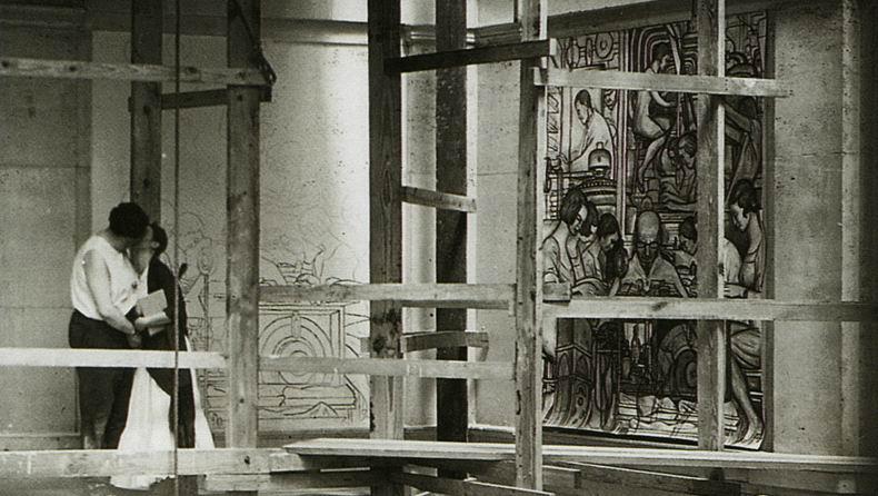 Diego-Rivera-y-Frida-Kahlo-en-Detroit.-1932