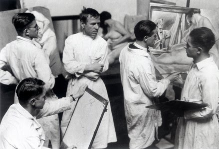Hugo-Erfurth-Otto-Dix-with-his-painting-class-at-the-Dresden-Academy-1929