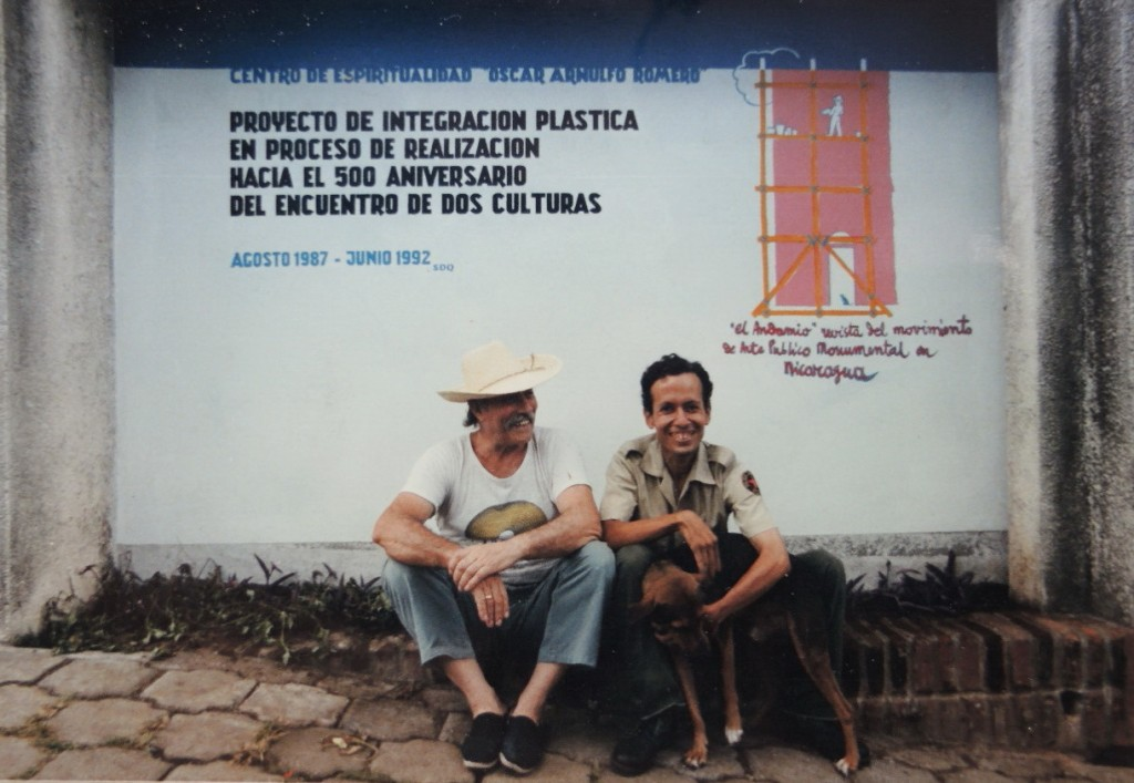 AURELIO con el estudiante-pintor-policia Jorge Franco 1987
