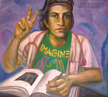 Sergio Michilini, CARLOS ROBERTO HUEMBES RAMIREZ – IMAGINE, 2014, olio su tela, cm 64x70