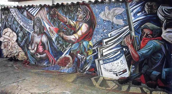 1983-1a  La sculto-pittura nella Casa Nazionale della Associazione Donne Nicaraguensi (AMNLAE), Managua, Nicaragua