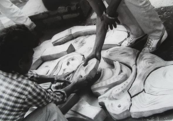 1983 primer altorrelieve pre-moldeado de terracota