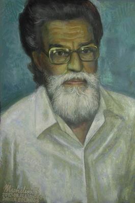 Michilini, RITRATTO DEL DR. ALEJANDRO DAVILA BOLANOS, 2012, olio su tela, cm.60x40