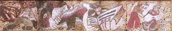 3b -1985-Mosaico-TARIMA-MALECON-San-Carlos-Rio-San-Juan-Nicaragua