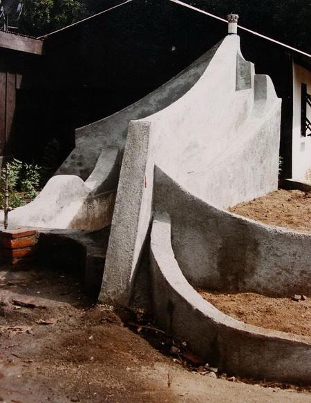 1985- CDI PEDRO MAYORGA, jardineras en construccion, Managua, Nicaragua
