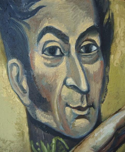 Sergio Michilini, HUGO CHAVEZ FRIAS, detalle retrato de Simon Bolivar