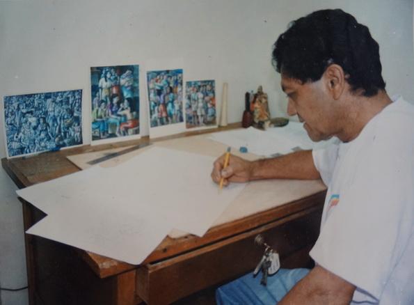 1990 El maestro LEONEL CERRATO