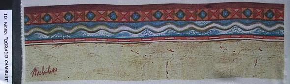 10a - 2004-16   PAREO-DORADO CAMBURI'-10 elaborazione elettronica su seta cm.45x160