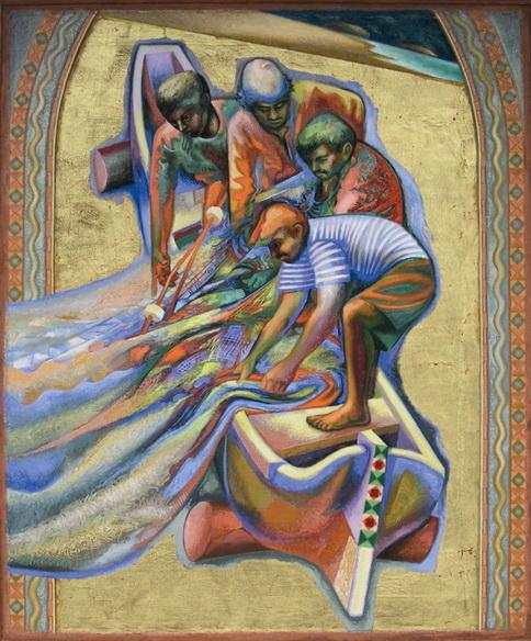 Sergio Michilini, PESCADORES N3, 1999, cm.123x102