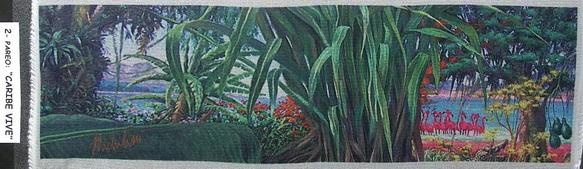 2a - 2004-8   PAREO-CARIBE VIVE- 2  elaborazione elettronica su seta cm.45x160