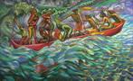3 - 1998-8 LA CANOA DEI DODICI CON LA REGINA DI MAMANGUA' cm.100x160 (115)