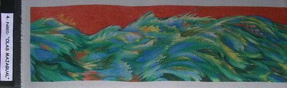 4a - 2004-10   PAREO-OLAS MAJAGUAL-4 elaborazione elettronica su seta cm.45x160