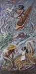 5 - 1989-2b  SALVIAMO L'ARIA, L'ACQUA, LA TERRA E L'UOMO, ceramica, mosaico e silicati di potassio