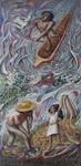 6 - 1989-2b  SALVIAMO L'ARIA, L'ACQUA, LA TERRA E L'UOMO, ceramica, mosaico e silicati di potassio