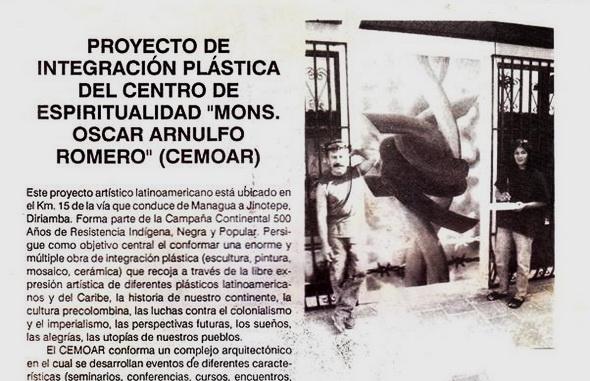 1992 los pintores EMILIO GONZALEZ y CONY GOMEZ SILVA en el CEMOAR