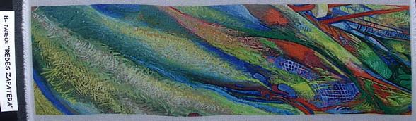 8a - 2004-14   PAREO-REDES ZAPATERA-8  elaborazione elettronica su seta cm.45x160