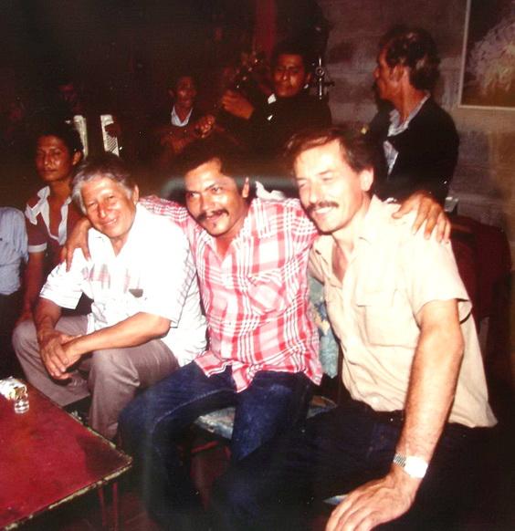 1990 Encuentro de pintores muralistas en Managua: CAMILO MINERO, LEONEL CERRATO y SERGIO MICHILINI