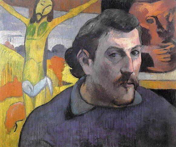Paul Gauguin, AUTORITRATTO CON IL CRISTO GIALLO, 1890, olio su tela, cm.38x36