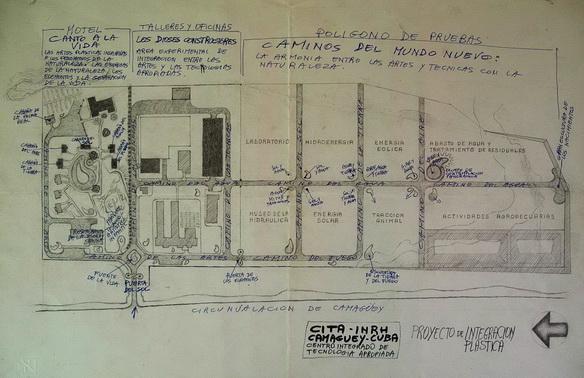 Planta tamática del Proyecto y ubicación de las estructuras, edificios y obras de artes plásticas