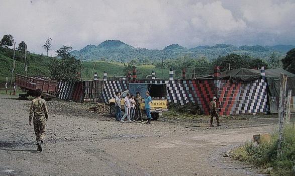 Los muros de la cocina del BLI MAO y la legendaria camioneta amarilla de la ENAPUM-DAS