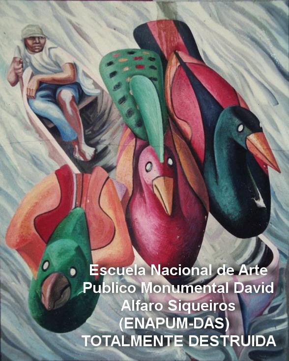 6 - 1986-1  Rio San Juan, pittura murale nella ENAPUM-DAS, Managua
