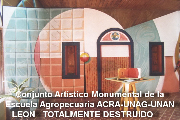 9 - 1986-2a  ANAMORFOSI murale poliangolare didattico, Leon, Nicaragua