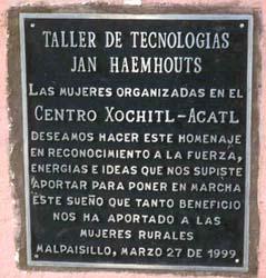 Jan Haemhouts en el recuerdo de las mujeres de Malpaisillo, NICARAGUA