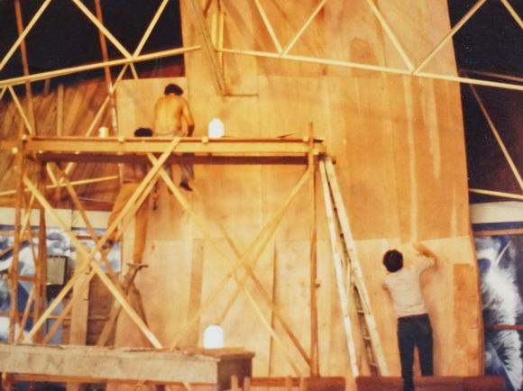 """SOPORTE DE """"LA RESURRECCION"""" EN PLYWOOD DE TIPITAPA 1984"""