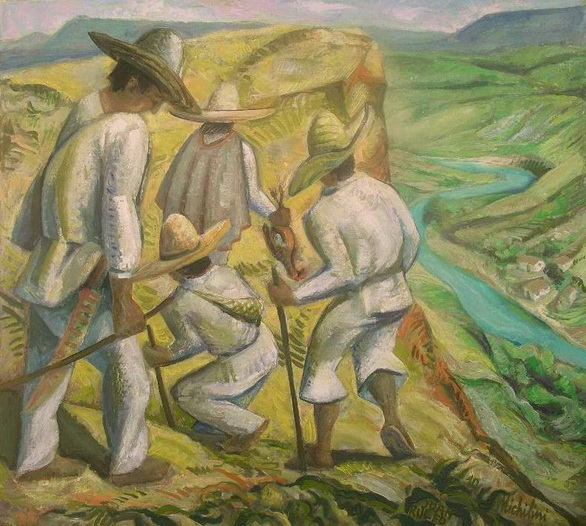 1- Sergio Michilini, NOS HAN DADO LA TIERRA (Juan Rulfo. El llano en llamas), 2010, oleo sobre tela, cm.71x80