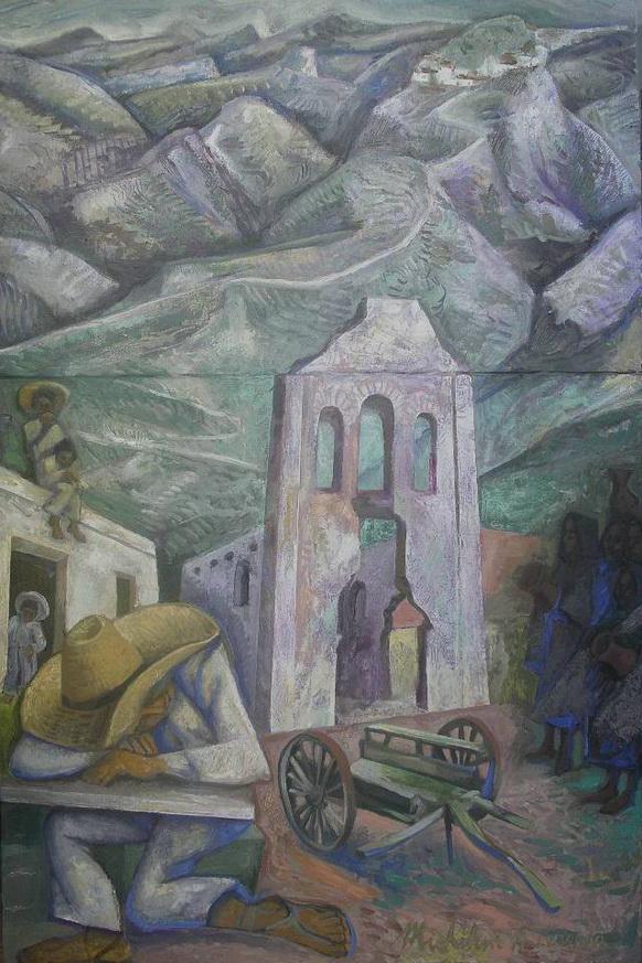 10- Sergio Michilini, LUVINA (Juan Rulfo. El llano en llamas), 2011, díptico, oleo sobre tela, cm.90x60