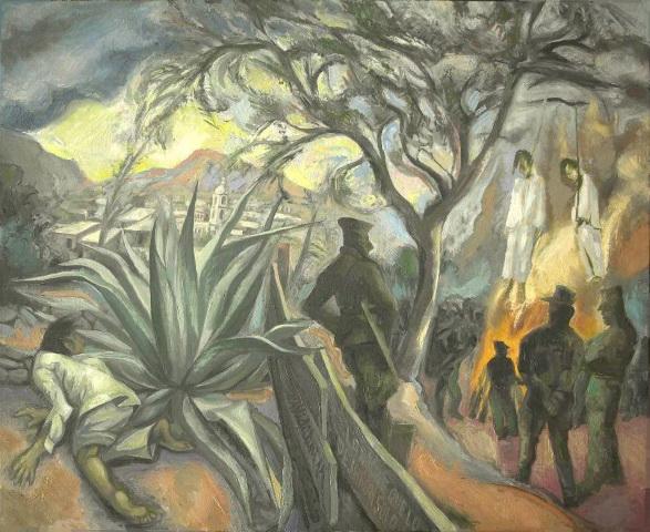 11- Sergio Michilini, LA NOCHE QUE LO DEJARON SOLO (Juan Rulfo. El llano en llamas), 2011, oleo sobre tela, cm.65x80