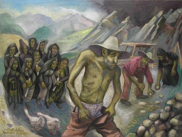 17- Sergio Michilini, ANACLETO MORONES (Juan Rulfo. El llano en llamas),2011, oleo sobre tela, cm.60x80
