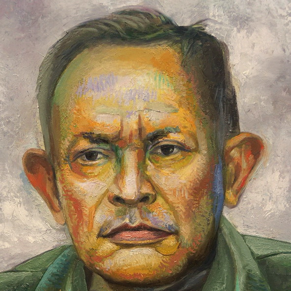 Sergio Michilini, EL HEREJE TOMAS BORGE MARTINEZ, 2016, óleo sobre tela, cm.75x60 DETALLE
