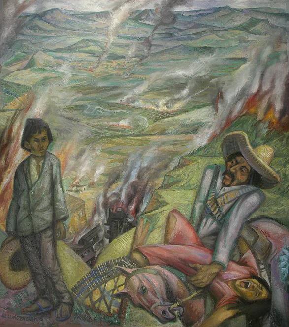8- Sergio Michilini, EL LLANO EN LLAMAS (Juan Rulfo. El llano en llamas), 2011, oleo sobre tela, cm.90x80