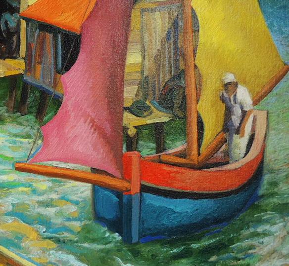 Sergio Michilini, CAYOS MISKITOS, 2004, óleo sobre tela, cm.40x50 (detalle)