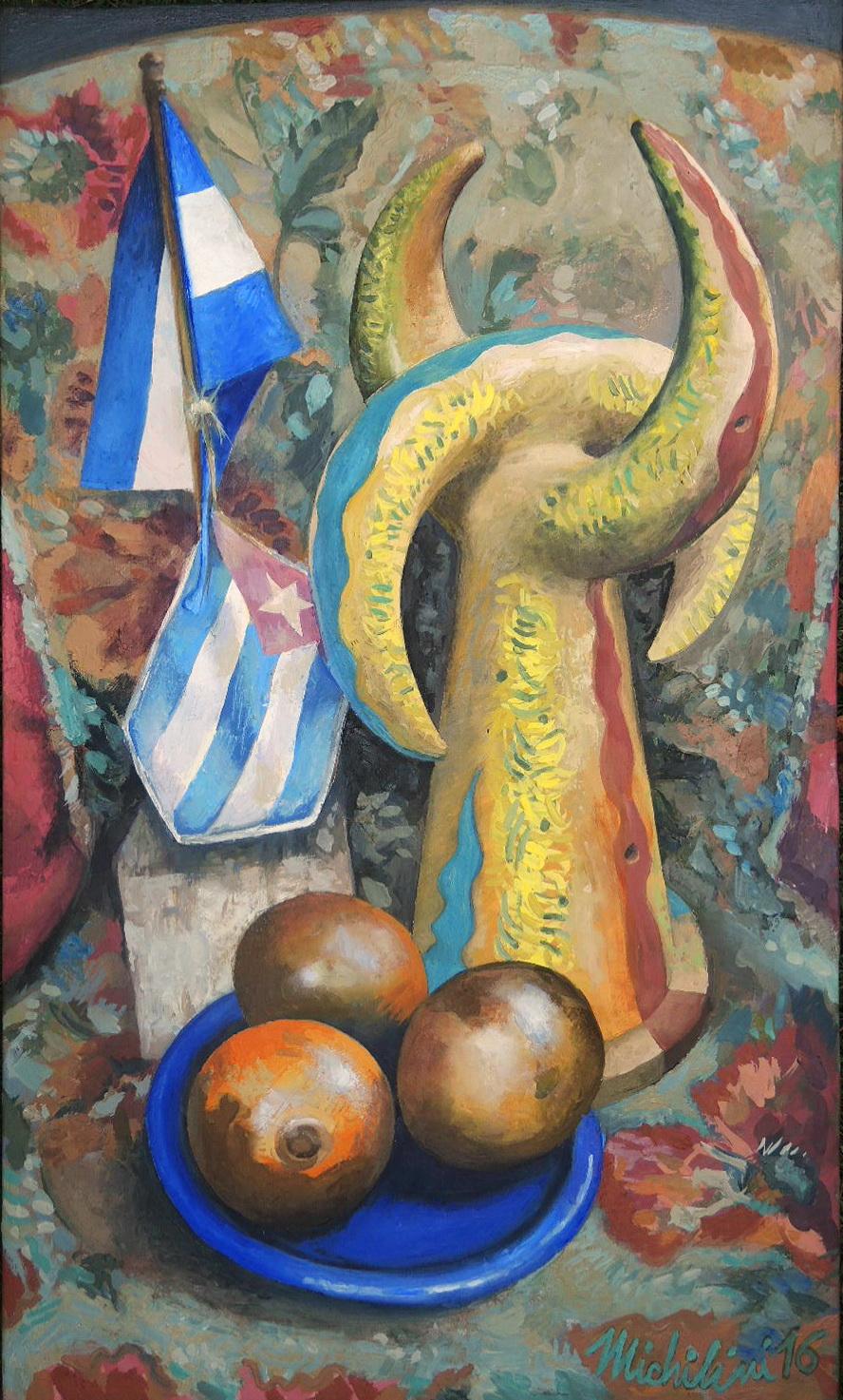 Sergio Michilini, BODEGON BIBLICO, 2016, oleo sobre tela, cm.60x35