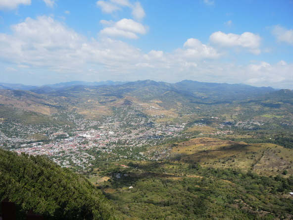 La ciudad de Matagalpa desde la Montaña de la Paz