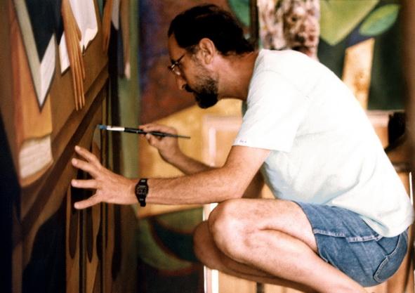 9 -  584 Pintando Mural UCA Nic 1992 1