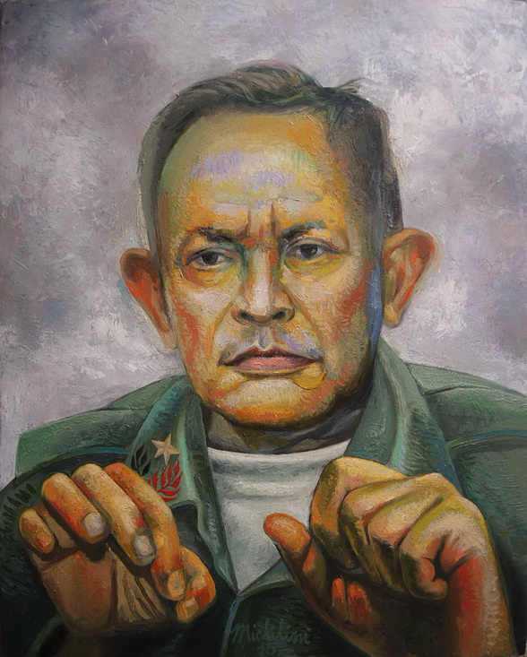 Sergio Michilini, EL HEREJE TOMAS BORGE MARTINEZ, 2016, óleo sobre tela, cm.75×60